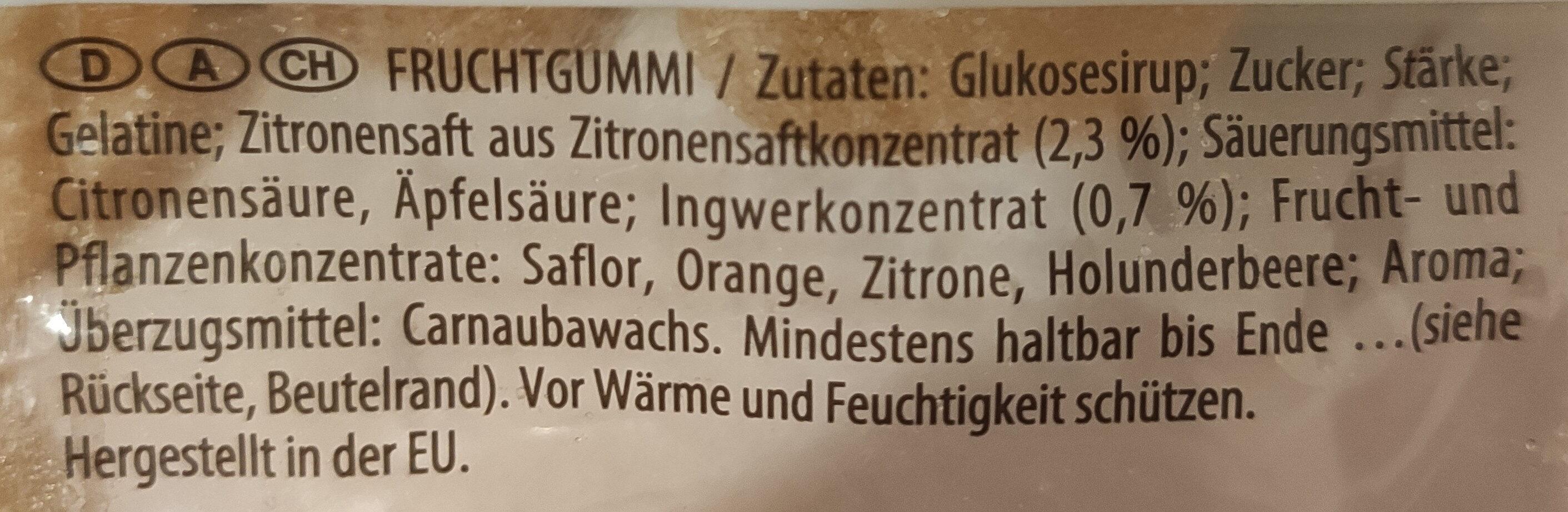 Zenzero limone - Zutaten - de