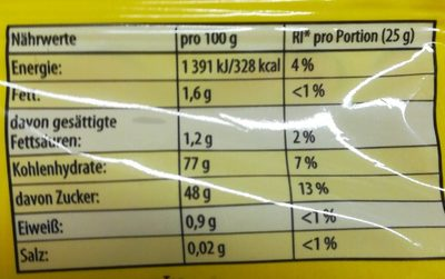 Haribo Frucht- Und Cola-schnecken - Nährwertangaben