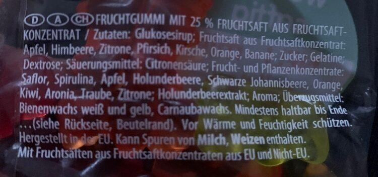 Saft-Goldbären - Ingrédients - de