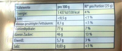 Saft-Goldbären - Informations nutritionnelles - de