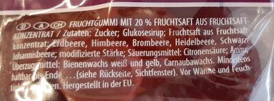 Fruitmania Berry - Zutaten - de