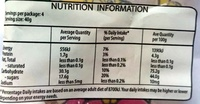 Haribo Turtles - Nutrition facts - en