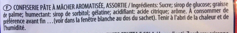 Maoam - Ingrédients - fr