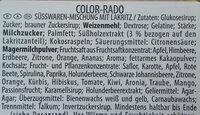 Haribo Color-Rado - Ingrédients - de