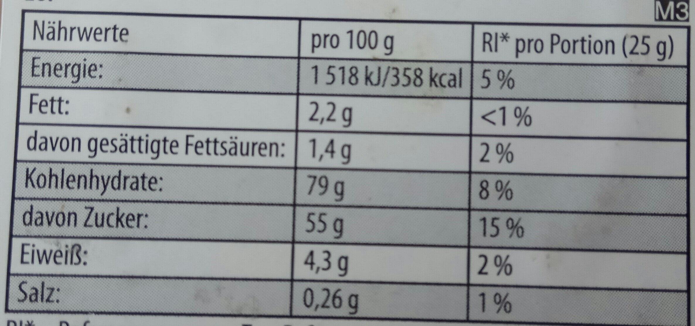 Haribo Color-Rado - Informations nutritionnelles - de