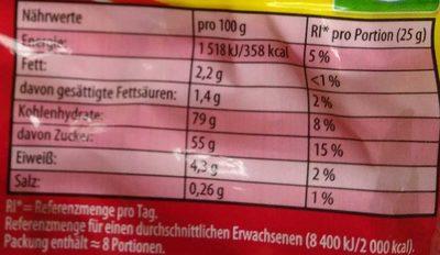Color-Rado - Informations nutritionnelles - de