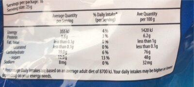 Starmix - Nutrition facts - en