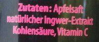 Apfel Ingwer - Ingredients