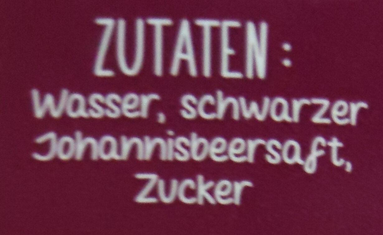 Schwarze Johannisbeere - Ingredients