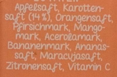 Multi Mehrfruchtsaft mit Karotte - Ingrediënten - de