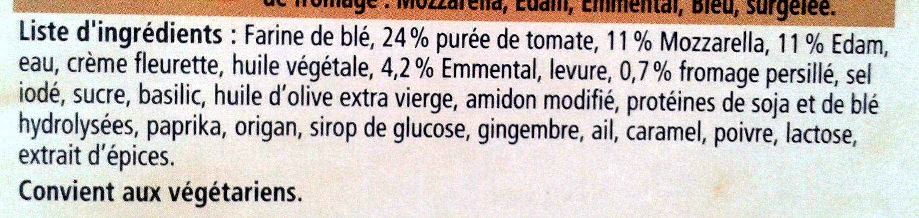 Ristorante pizza quattro fromaggi - Ingrédients