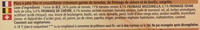Pizza Ristorante Formaggi & Pommodore 0.355 Kilogramm - Ingrédients - fr