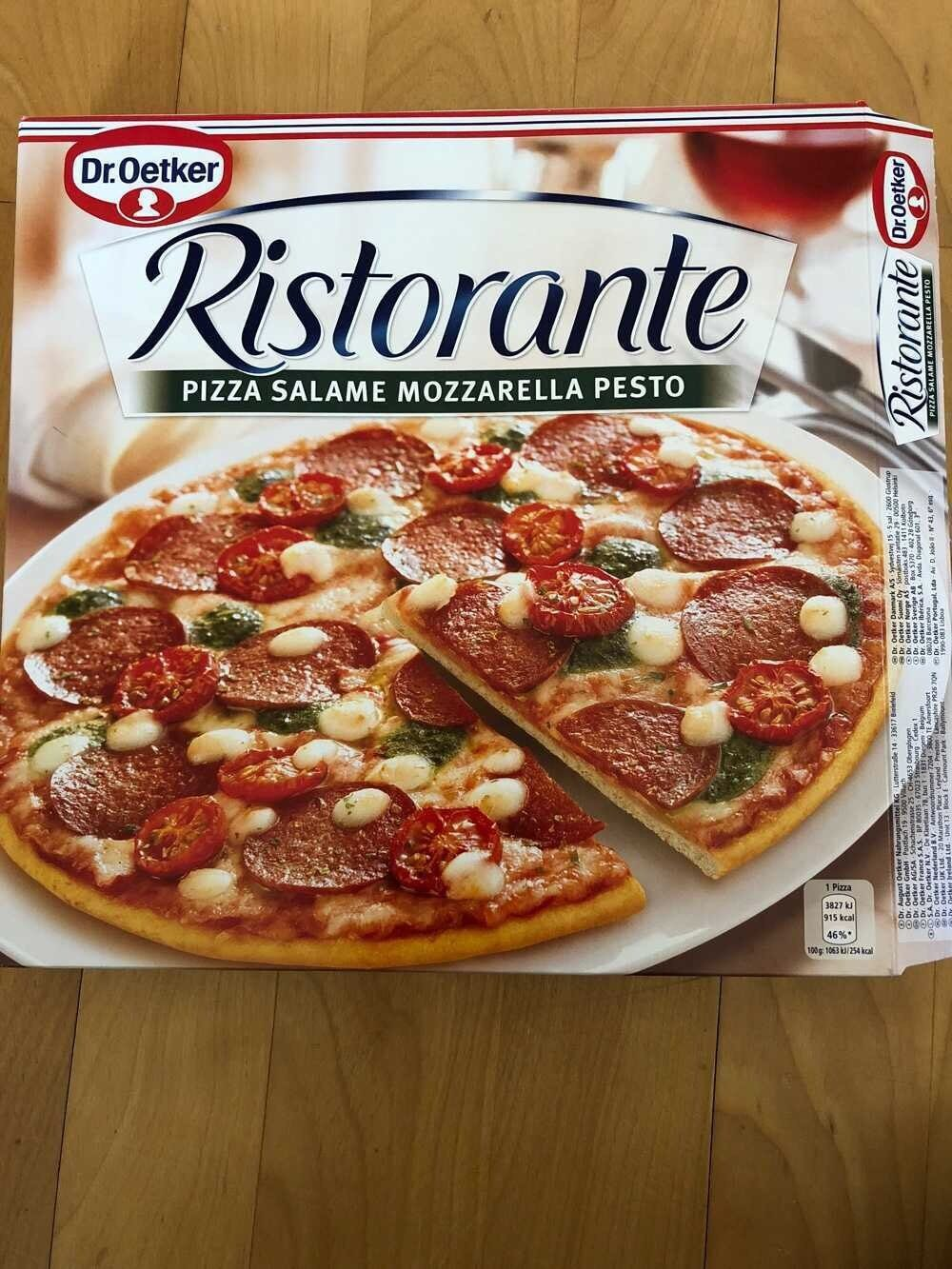 Ristorante Pizza Salame Mozzarella Pesto - Product