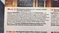 Bistro Mini Baguette Spéciale - Ingredients