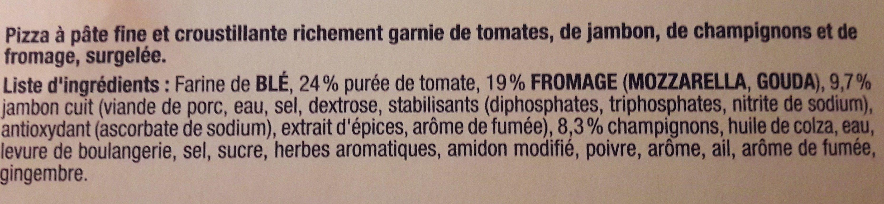 Ristorante Pizza royale - Ingrediënten - fr