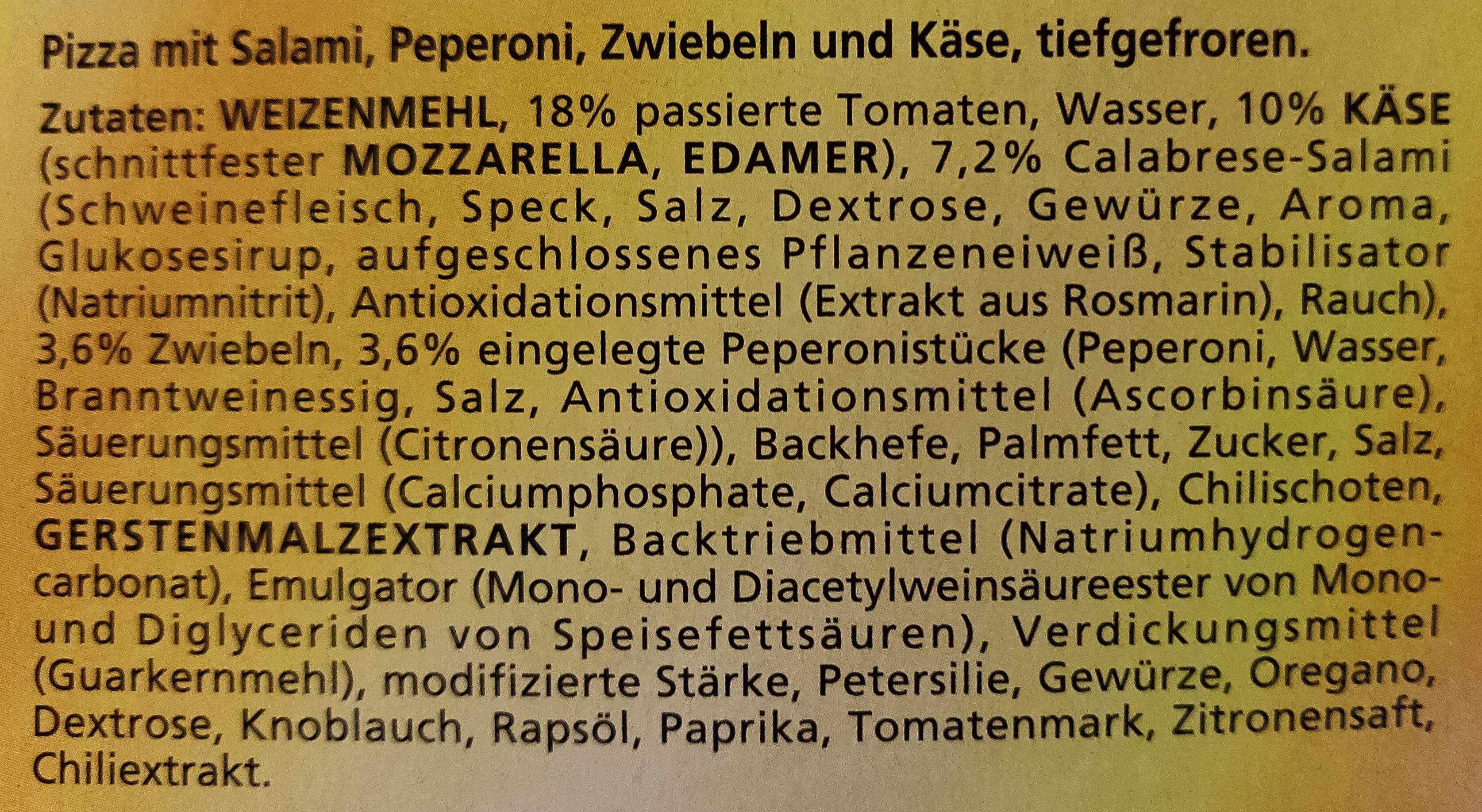 Ofenfrische Diavolo - Zutaten - de