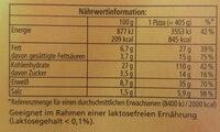 Ofenfrische Diavolo - Nährwertangaben - de