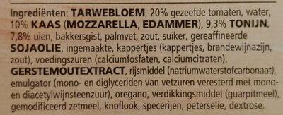 pizza tonno casa di mama - Ingrediënten