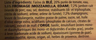 Dr. oetker Pizza Casa Di Mamma Prosciutto-funghi - Ingrédients - fr