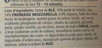 Pizza Mozzarella Pesto Casa di Mama - Ingrediënten - fr
