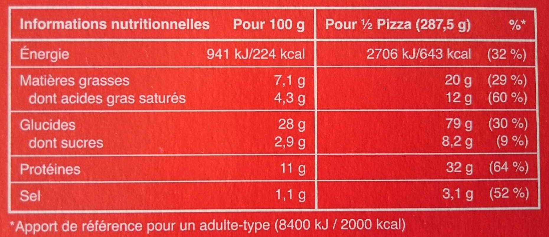 Delizza royale - Nutrition facts - fr