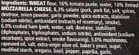 Pizza Tradizionale Speciale - Ingrediënten - en
