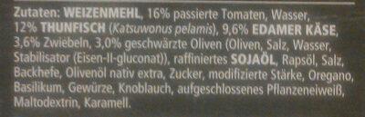 Pizza Tradizionale Tonno e Cipolla - Ingredients