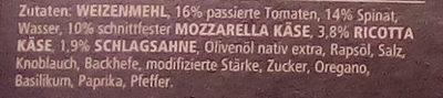 Dr. Oetker Pizza Tradizionale Spinaci e ricotta - Ingrediënten - de