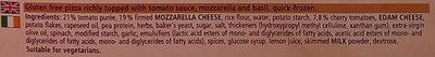 Ristorante Gluten Free Mozzarella Pizza - Ingredients - en