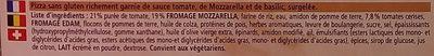 Ristorante Gluten Free Mozzarella Pizza - Ingrédients - fr