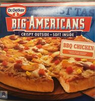Big Americans BBQ Chicken pizza - Product - fr