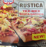 Dr Oetker Rustica 640g Tex Mex Beef Nachos Pakastepizza