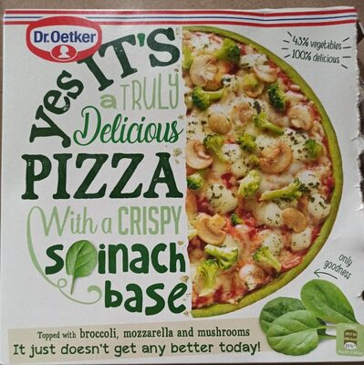 Pizza with a crispy spinach base - Product - fr