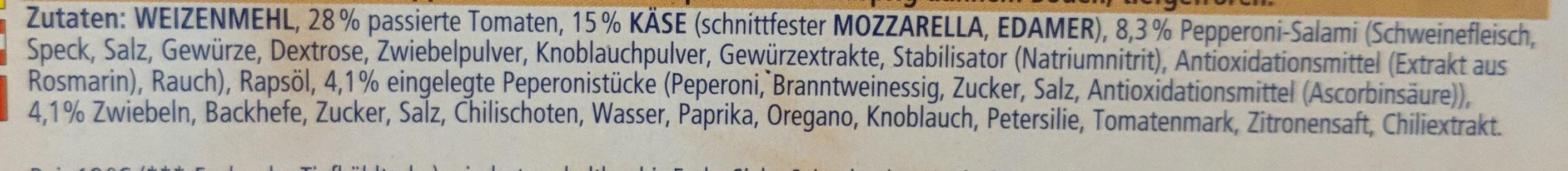 Ristorante pizza diavola - Ingredients - de