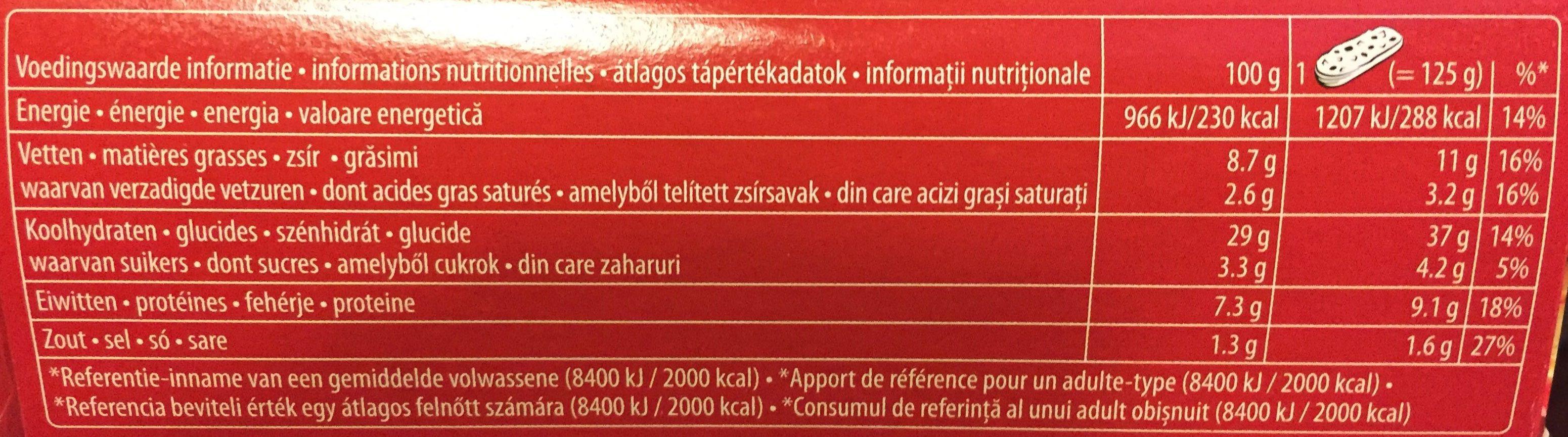 Bistro Classique Baguette Tomate & Fromage - Informations nutritionnelles