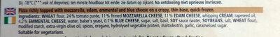 Ristorante Pizza quattro formaggi - Ingredienti - en