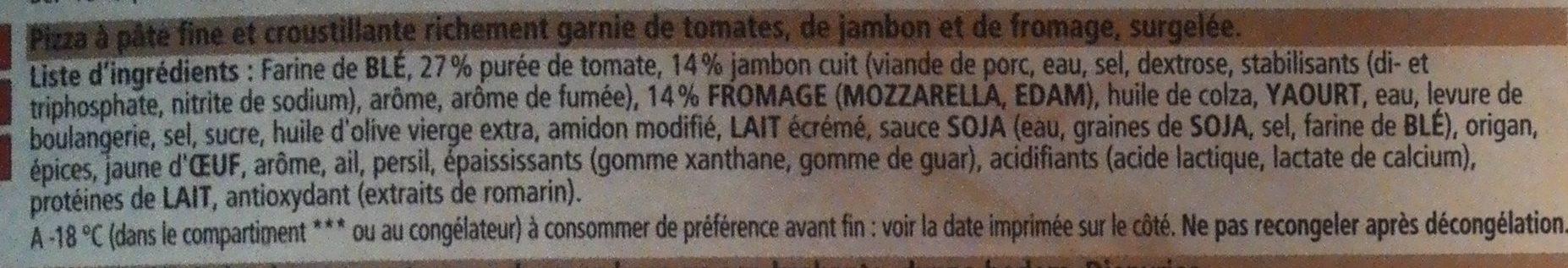 Pizza prosciutto - Ingrédients - fr