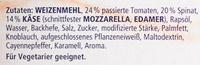 Ristorante Pizza Spinaci - Inhaltsstoffe - de