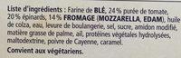 Ristorante - Pizza Spinaci - Ingrédients - fr