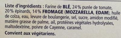Ristorante - Pizza Spinaci - Ingrediënten - fr