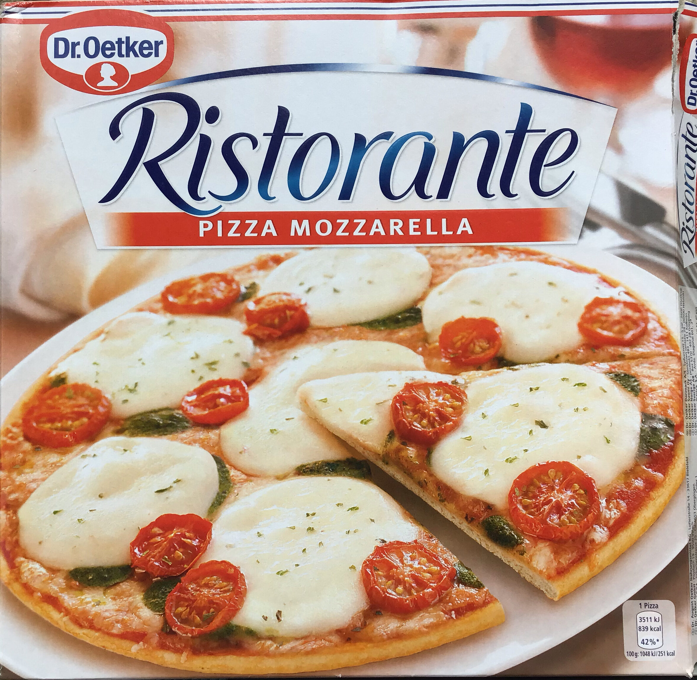 Ristorante Pizza Mozzarella - Tuote - en