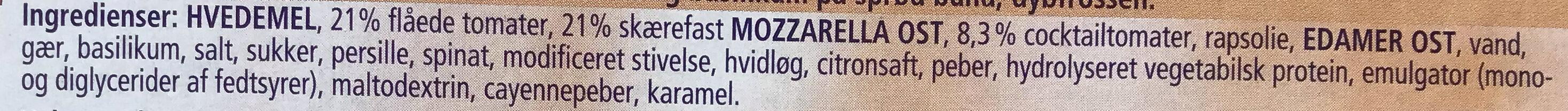 Ristorante Pizza Mozzarella - Ingredienser - da