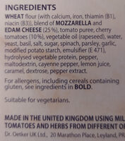 Ristorante Pizza Mozzarella - Ingredients - en
