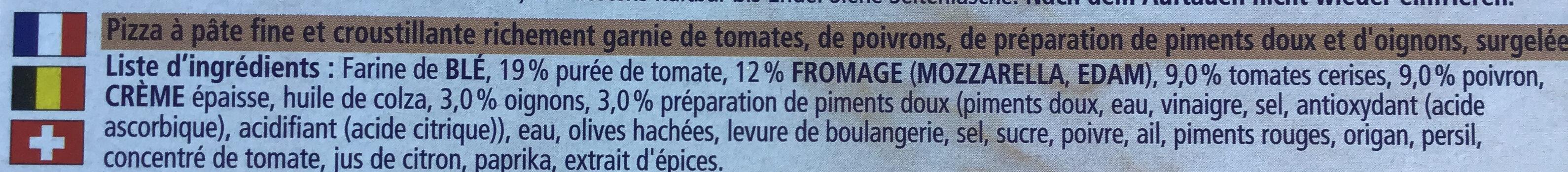 Pizza Végétale - Ingrédients - fr