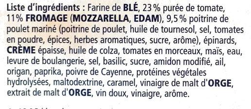 Pizza Pollo - Ingrediënten - fr