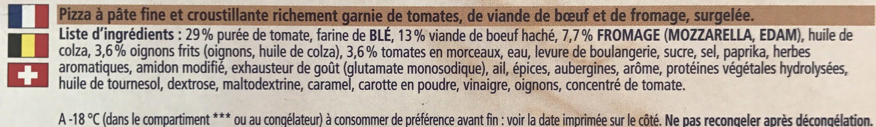 Ancel Rist Ristorante Bolognaise - Ingrediënten