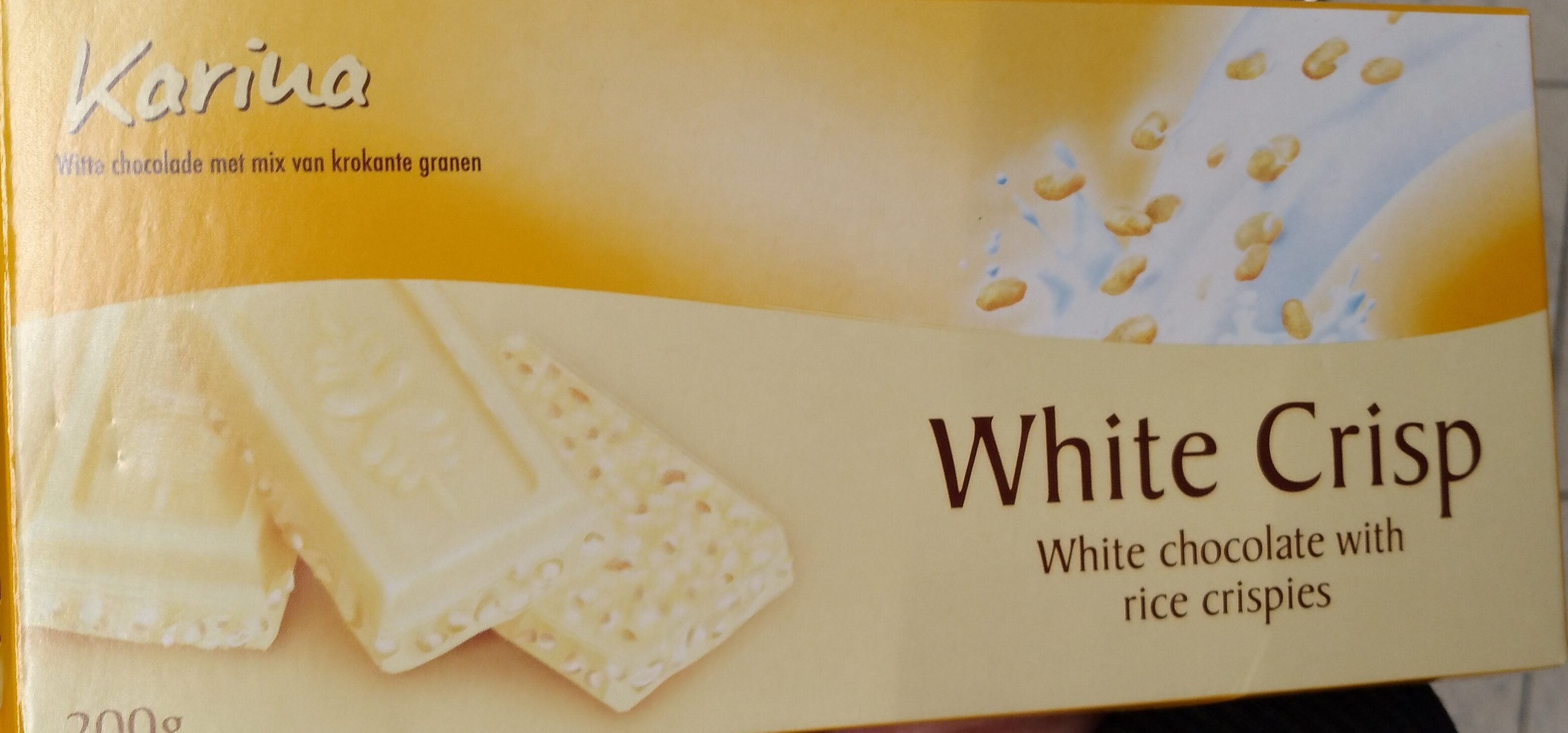 White chocolate with rice crispies - Product - nl