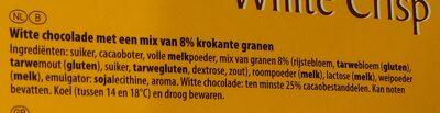 White chocolate with rice crispies - Ingrediënten - nl