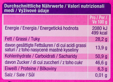 Edel-Marzipan - Informació nutricional - de