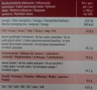 Edelbitter 70% Kakao - Nährwertangaben